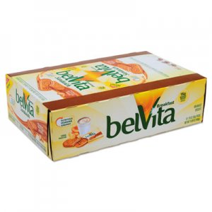 Nabisco belVita Breakfast Biscuits, Peanut Butter Sandwich, 1.76 oz Pack, 8/Box CDB04068 00 44000 04068 00