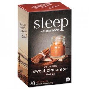 Bigelow steep Tea, Sweet Cinnamon Black Tea, 1.6 oz Tea Bag, 20/Box BTC17712 RCB17712