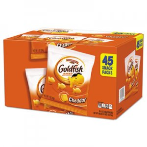 Pepperidge Farm Goldfish Crackers, Cheddar, 1 oz Bag, 45/Carton PPF1051900 1013100