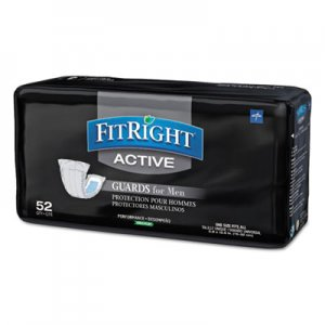 "Medline FitRight Active Male Guards, 6"" x 11"", White, 52/Pack, 4 Pack/Carton MIIMSCMG02CT MSCMG02"