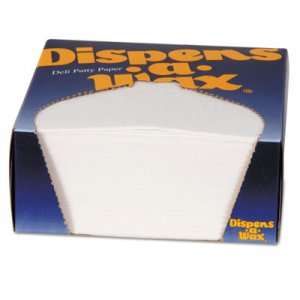 Dixie Dispens-A-Wax Waxed Deli Patty Paper, 4 3/4 x 5, White, 1000/Box DXE434BX 434