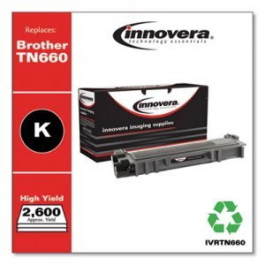 Innovera Remanufactured TN660 High-Yield Toner, 2600 Page-Yield, Black IVRTN660