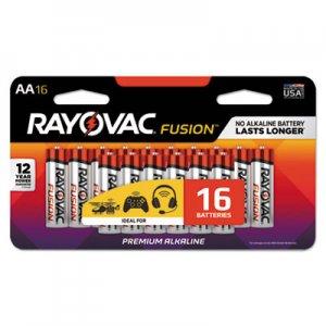 Rayovac Fusion Advanced Alkaline AA Batteries, 16/Pack RAY81516LTFUSK 81516LTFUSK