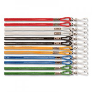 "Champion Sports Lanyard, J-Hook Style, 22"" Long, Assorted Colors, 12/Pack CSI126ASST 126ASST"