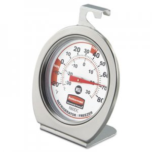 Rubbermaid Commercial Refrigerator/Freezer Monitoring Thermometer, -20 F to 80 F PELR80DC FGR80DC