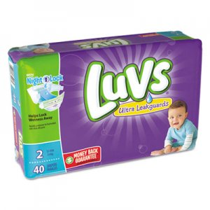 Luvs Diapers, Size 2: 12 lbs to 18 lbs, 40/Pack, 2 Pack/Carton PGC85923 85923