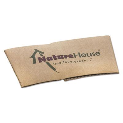 NatureHouse Hot Cup Sleeves, Fits 10oz, 12oz, 16oz, 20oz Cups, 1000/Carton SVAS02CT NAHS02