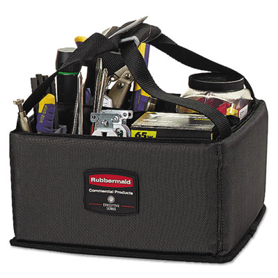 Rubbermaid Commercial Executive Quick Cart Caddy, Small, Dark Gray RCP1902459CT 1902459