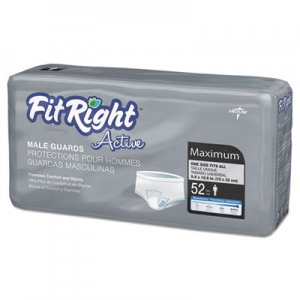 "Medline FitRight Active Male Guards, 6"" x 11"", White, 52/Pack MIIMSCMG02 MSCMG02"