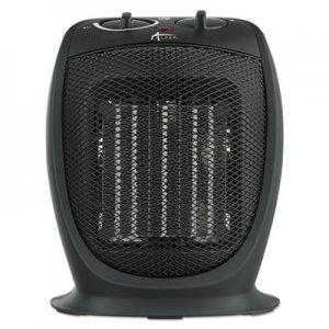 "Alera Ceramic Heater, 7 1/8""w x 5 7/8""d x 8 3/4""h, Black ALEHECH09"