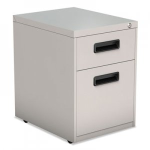 Alera Two-Drawer Metal Pedestal File, 14.96w x 19.29d x 21.65h, Light Gray ALEPABFLG
