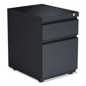 Alera 2-Drawer Metal Pedestal Box File with Full Length Pull, 14.96w x 19.29d x 21.65h, Charcoal