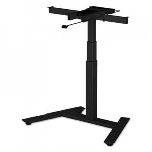"Alera 3-Stage Single-Column Electric Adjustable Table Base, 24 3/4"" to 43 1/4""H, Black ALEHT1CSB"