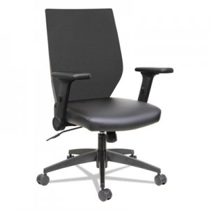 Alera EB-T Series Syncho Mid-Back Flip-Arm Chair, Black ALEEBT4215
