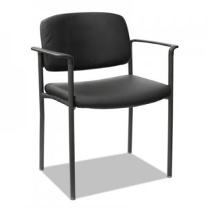 Alera Sorrento Series Stacking Guest Chair, Faux Leather, Black, 2/Carton ALEUT6816
