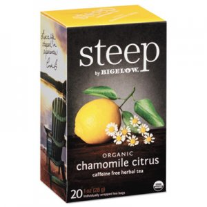 Bigelow steep Tea, Chamomile Citrus Herbal, 1 oz Tea Bag, 20/Box BTC17707 RCB17707