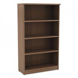 Alera Valencia Series Bookcase, Four-Shelf, 31 3/4w x 14d x 55h, Modern Walnut ALEVA635632WA