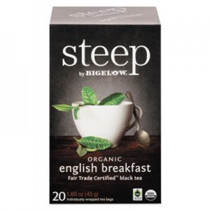 Bigelow steep Tea, English Breakfast, 1.6 oz Tea Bag, 20/Box BTC17701 RCB17701