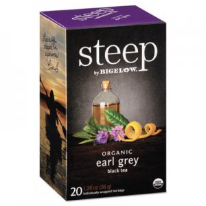 Bigelow steep Tea, Earl Grey, 1.28 oz Tea Bag, 20/Box BTC17700 RCB17700