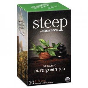 Bigelow steep Tea, Pure Green, 0.91 oz Tea Bag, 20/Box BTC17703 RCB17703