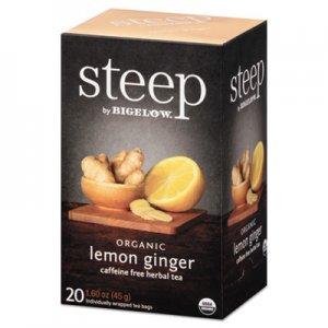 Bigelow steep Tea, Lemon Ginger, 1.6 oz Tea Bag, 20/Box BTC17704 RCB17704