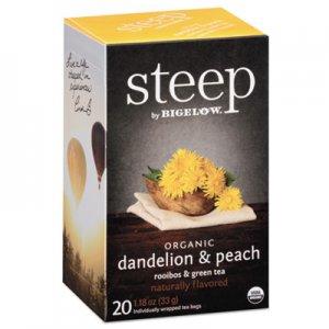 Bigelow steep Tea, Dandelion and Peach, 1.18 oz Tea Bag, 20/Box BTC17715 RCB17715
