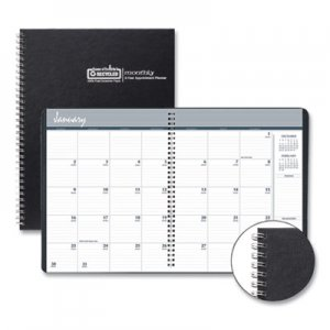 House of Doolittle Two-Year Monthly Hard Cover Planner, 11 x 8 1/2, Black, 2020-2021 HOD262092 2620-92
