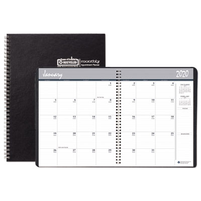 House of Doolittle 14 Month Ruled Monthly Planner, 6 7/8 x 8 3/4, Black, 2019-2021 HOD26892 268
