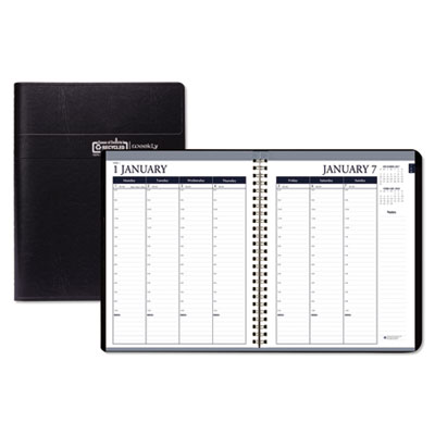 House of Doolittle Weekly 7 Day Appointment Book, 8 1/2 x 11, Black, 2020 HOD28402 284-02