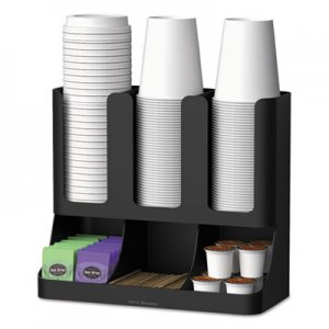 Mind Reader Flume Six-Section Upright Coffee Condiment/Cup Organizer, Black, 11.5 x 6.5 x 15 EMSUPRIGHT6BLK UPRIGHT6BLK