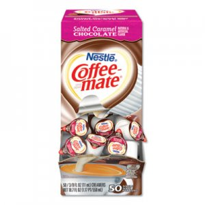 Coffee-mate Liquid Coffee Creamer, Salted Caramel Chocolate, 0.38 oz Mini Cups, 50/Box NES77197 NES STCRMCRMR