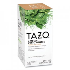 Tazo Tea Bags, Refresh Mint, 1 oz, 24/Box TZO149902 TJL20010