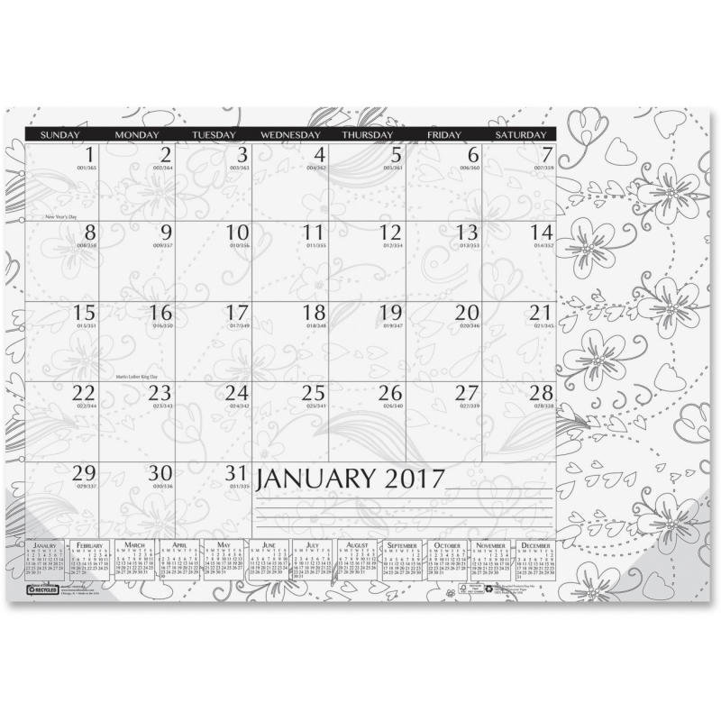 House of Doolittle Doodle Monthly Desk Pad 1876 HOD1876