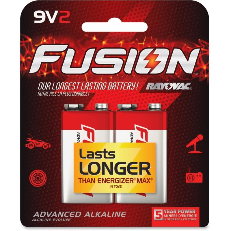 Rayovac Fusion Advanced Alkaline 9V Batteries A16042TFUSCT RAYA16042TFUSCT