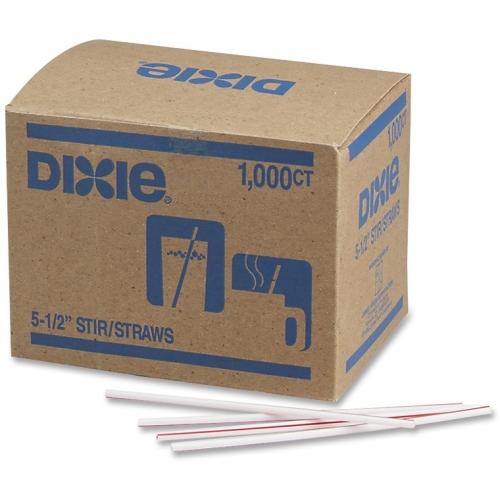"Dixie Foods 5-1/2"" Stir Straws HS551CT DXEHS551CT"