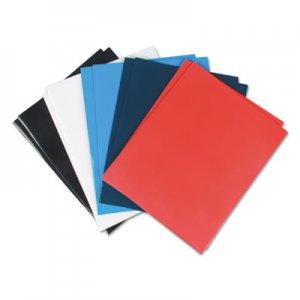 Genpak Laminated Two-Pocket Folder, Cardboard Paper, Assorted, 11 x 8 1/2, 25/Pack UNV56426