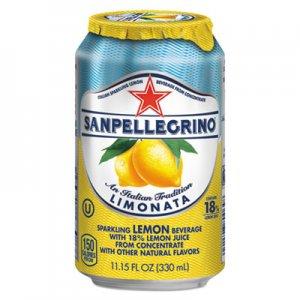 San Pellegrino Sparkling Fruit Beverages, Limonata (Lemon), 11.15 oz Can, 12/Carton NLE43347 NLE 43347