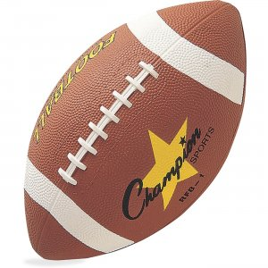 Champion Sport Official Size Rubber Football RFB1