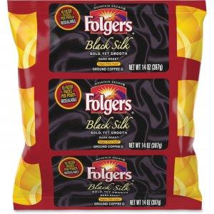 Folgers Black Silk Ground Coffee Filter Packs 00016