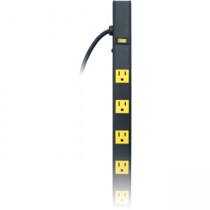 Inland 12 Outlet 4ft. Pro Power Strip with 3ft Power Cord 3201