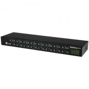 StarTech.com 16-Port USB-to-Serial Adapter Hub ICUSB23216FD