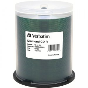 Verbatim CD-R 80MIN/700MB 52X Diamond 100PK Wrap 98480