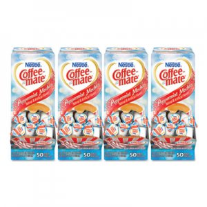 Coffee-mate Liquid Coffee Creamer, Peppermint Mocha, 0.38 oz Mini Cups, 50/Box, 4 Boxes/Carton, 200 Total/Carton