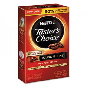 Nescafe Taster's Choice House Blend Instant Coffee, 0.1oz Stick, 6/Box, 12Box/Carton NES32486 32486