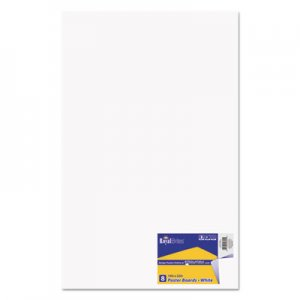 Royal Brites Premium Coated Poster Board, 14 x 22, White, 8/Pack GEO24324 24324