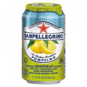San Pellegrino Sparkling Fruit Beverages, Pompelmo (Grapefruit), 11.15 oz Can, 12/Carton NLE33351 NLE 33351
