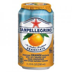 San Pellegrino Sparkling Fruit Beverages, Aranciata (Orange), 11.15 oz Can, 12/Carton NLE43345 041508433457