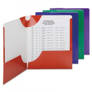 Smead Campus.org Lockit Two-Pocket Folder, 11 x 8 1/2, Assorted, 8/Pack SMD87800 87800