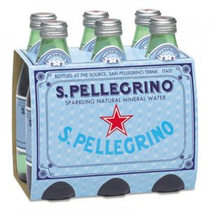 San Pellegrino Sparkling Natural Mineral Water, 8 oz Bottle, 24/Carton NLE80087 NLE 80087