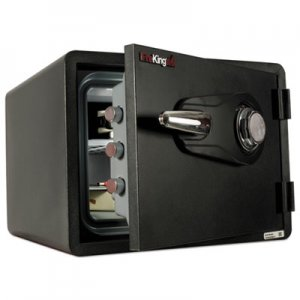 FireKing One Hour Fire and Water Safe with Combo Lock, 0.85 cu. ft., Graphite FIRKY09131GRCL KY0913-1GRCL